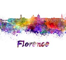 Florence skyline in watercolor by paulrommer