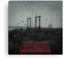 red bench Canvas Print