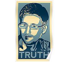 """""""Edward Snowden, TRUTH"""" Poster"""