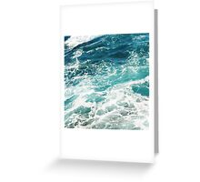 Blue Ocean Waves  Greeting Card