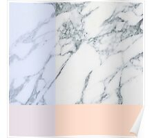 Peach and Purple Minimal Marble Pattern Poster