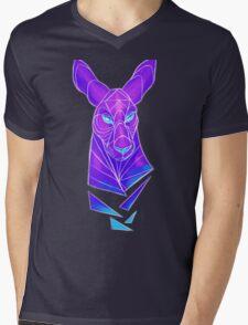 Vector roo midnight marsupial Mens V-Neck T-Shirt