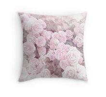 Watercolor Roses Print 2 Throw Pillow