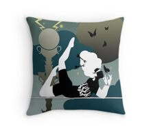 The Girl on the Tightrope Throw Pillow