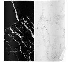 Black and White Marble Pattern Poster