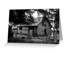 St Werburgh's Church, Warburton, Cheshire UK Greeting Card