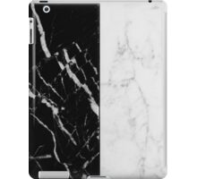 Black and White Marble Pattern iPad Case/Skin