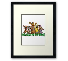 RESCUE DOGS ARE THE BEST BREED! Framed Print