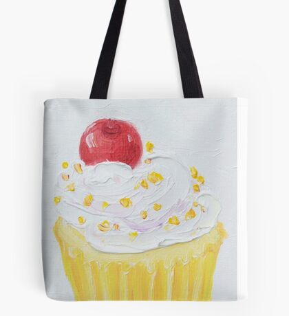 Vanilla cupcake with frosting and sprinkles Tote Bag