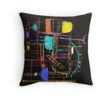 Playing in Asnieres 2d Throw Pillow