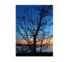 Sun Going Down at English Bay Art Print