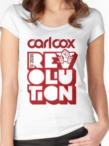 Carl Cox ~ Music is Revolution ~ Women's Fitted Scoop T-Shirt