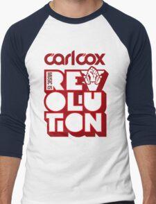 Carl Cox ~ Music is Revolution ~ Men's Baseball ¾ T-Shirt