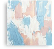 Pink and Blue Abstract Painting Canvas Print