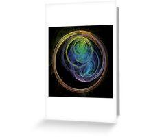 Abstract Art Space Circles Greeting Card