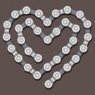 Bicycle Chain Heart by rubyred