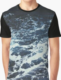 Dark Stormy Ocean Pattern Graphic T-Shirt