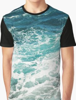 Blue Ocean Waves  Graphic T-Shirt