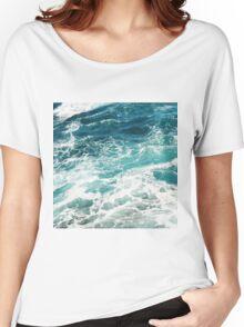 Blue Ocean Waves  Women's Relaxed Fit T-Shirt