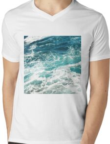 Blue Ocean Waves  Mens V-Neck T-Shirt