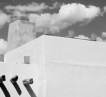 New Mexico Building Abstract by Larry3