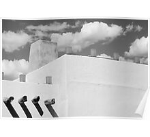 New Mexico Building Abstract Poster