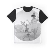 Vintage Cactus Girl Graphic T-Shirt
