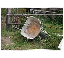 Wheelbarrow on a Farm Poster