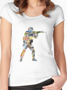 Sticker CSGO Women's Fitted Scoop T-Shirt