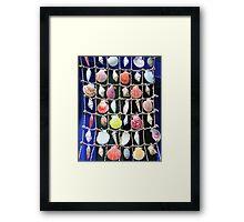 Colorful shells background Framed Print