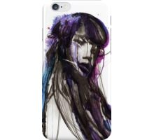 SEA - Ink and Charcoal Jellyfish Portrait iPhone Case/Skin