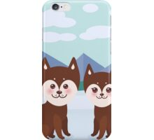 Funny husky dogs iPhone Case/Skin