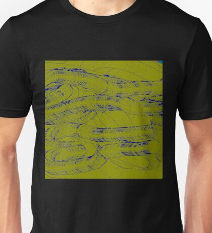 Abstract Blue and Green Web Design Unisex T-Shirt
