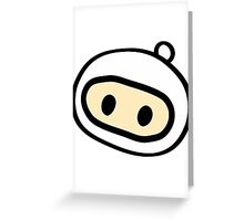 Bomberman Head Greeting Card
