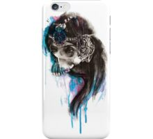 PRINCESS - Ink and Charcoal Skull Portrait iPhone Case/Skin