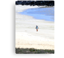 Galapagos Beachcomber Oil Painting Canvas Print