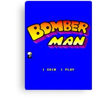 Bomberman Arcade Canvas Print