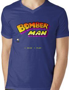 Bomberman Arcade Mens V-Neck T-Shirt