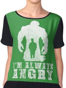 I'm Always Angry T-shirt - Cool Angry Crazy New Level Shirt Chiffon Top