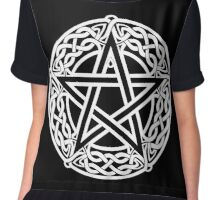 Celtic Pentagram or Pentacle white Chiffon Top