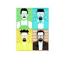 Walter White / Heisenberg Faces Breaking Bad Photographic Print