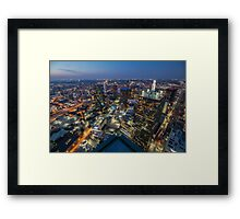 Bank of America Plaza Rooftop, Dallas Framed Print