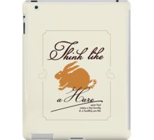 Think like a hare VRS2 iPad Case/Skin