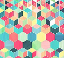 Yummy Summer Colour Honeycomb Pattern by micklyn