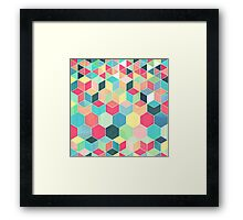 Yummy Summer Colour Honeycomb Pattern Framed Print