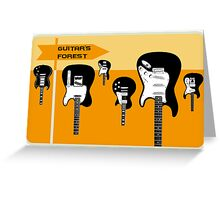 Guitar's forest Greeting Card
