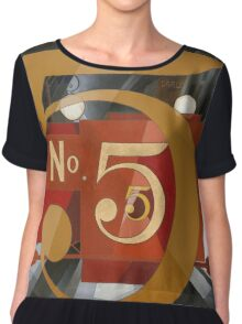 Vintage famous art - Charles Demuth - I Saw The Figure 5 In Gold Chiffon Top