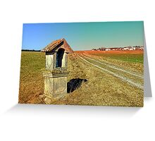 Wayside shrine with scenery 2 | landscape photography Greeting Card