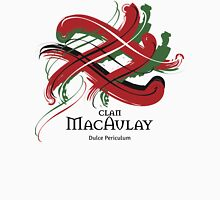 Clan MacAulay - Prefer your gift on Black/White tell us at info@tangledtartan.com  Unisex T-Shirt