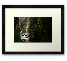 Boulder River Falls - Boulder River Wilderness, Washington Framed Print